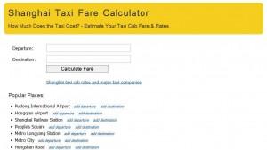 Şangay Taksi Ücreti Hesaplama